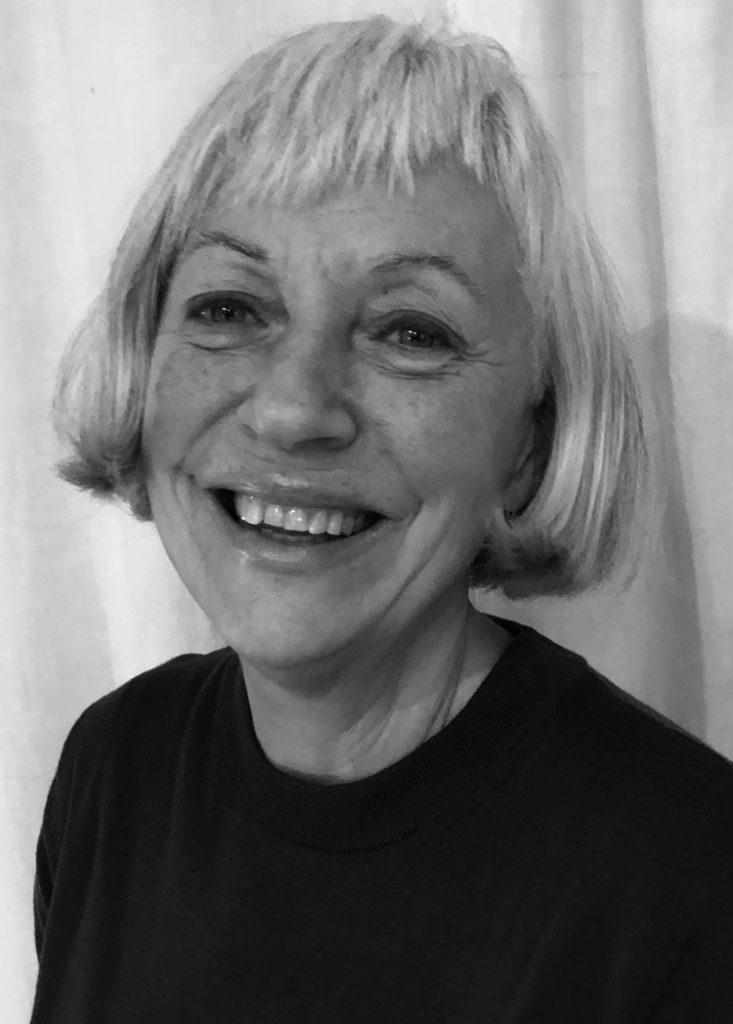 Svartvit bild på Margaretha, ordförande i föreningen.