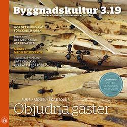 Framsida för tidskriften Byggnadskultur